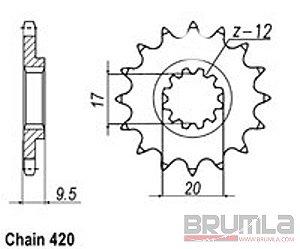 Řetězové kolečko KTM 65SX 00-16 12z