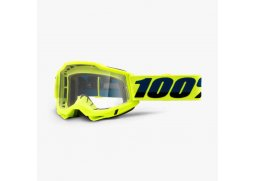 Brýle 100% ACCURI2 Fluo Yellow clear mirror 2021